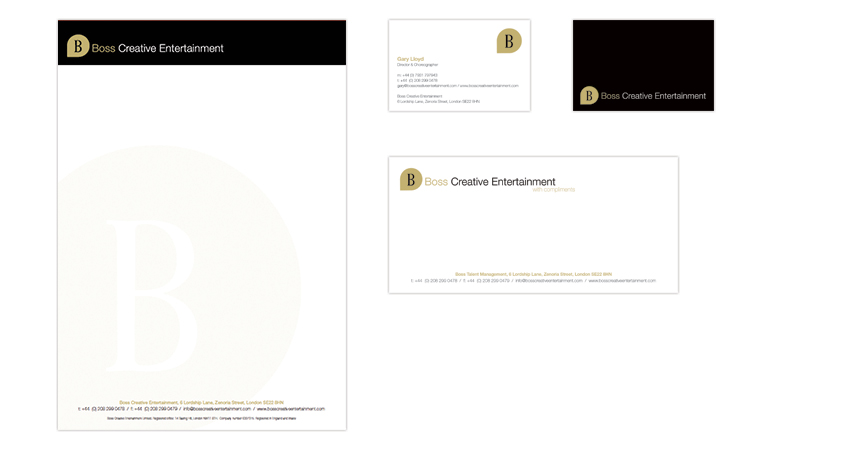 Boss Creative Entertainment Stationery