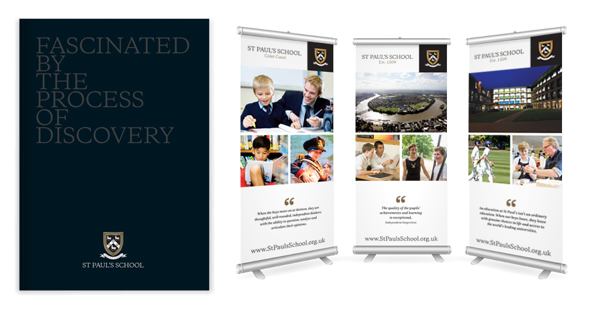 St Paul's School Pull Up Banner & flyers